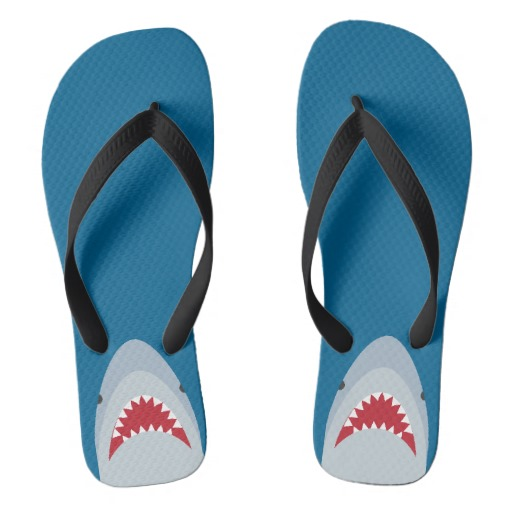 blue shark sandles