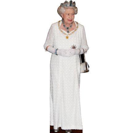 Queen Elizabeth II cardboard cutout standup