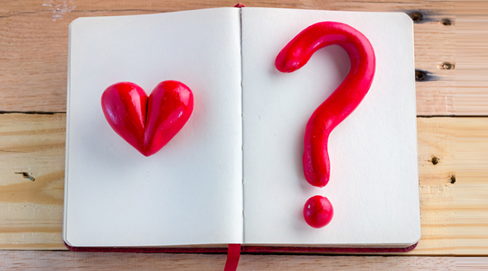 Heart and question mark featured image