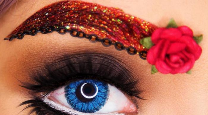 Rose eyebrow art