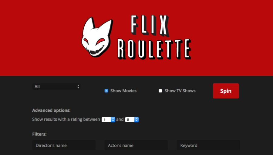 Flix roulette screen grab