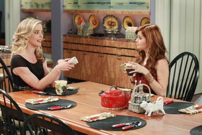 """Jessie and Mrs. Ross from Disney Channel's """"Jessie"""" talking"""