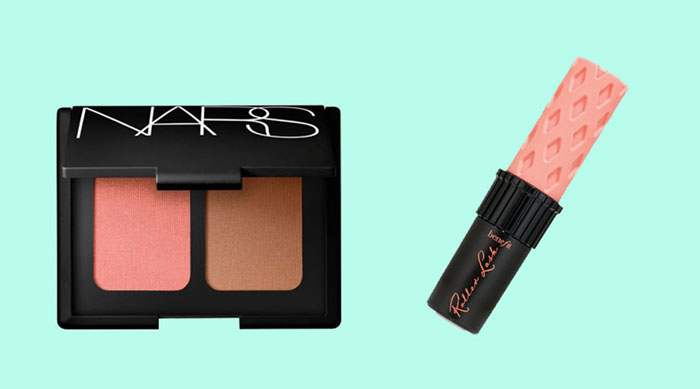 Nars blush and bronzer and Benefit Cosmetics mascara