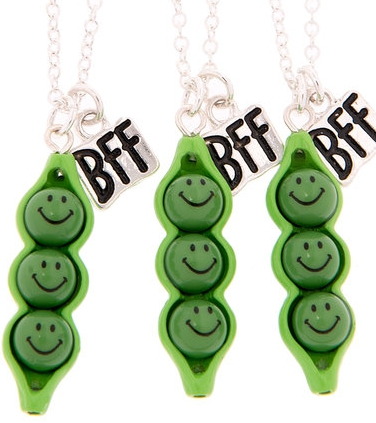 Peas in a Pod BFF necklace