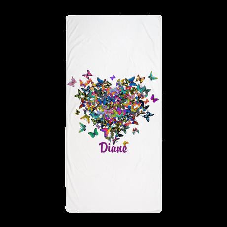 Personalized butterflies beach towel