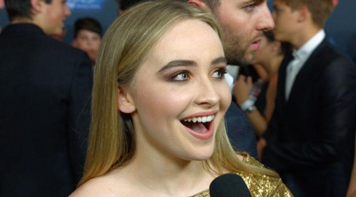 Sabrina Carpenter at the Adventures in Babysitting premiere