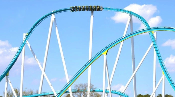 Fury 325 roller coaster from Carowinds in Charlotte, North Carolina