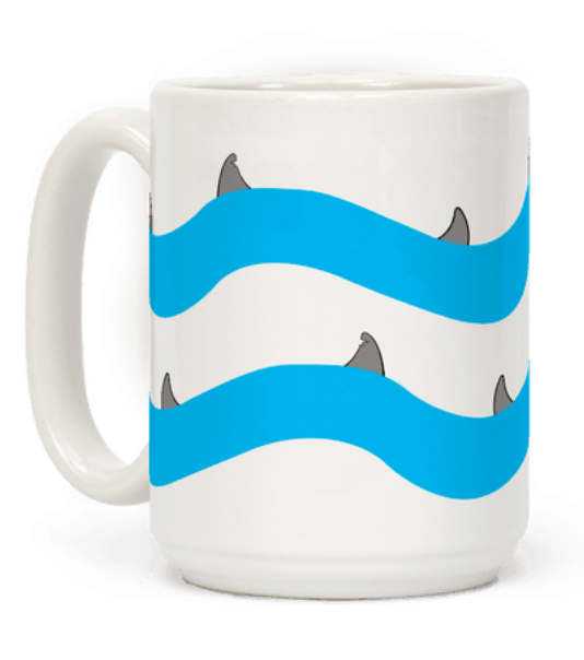 Shark Fins mug for Shark Week
