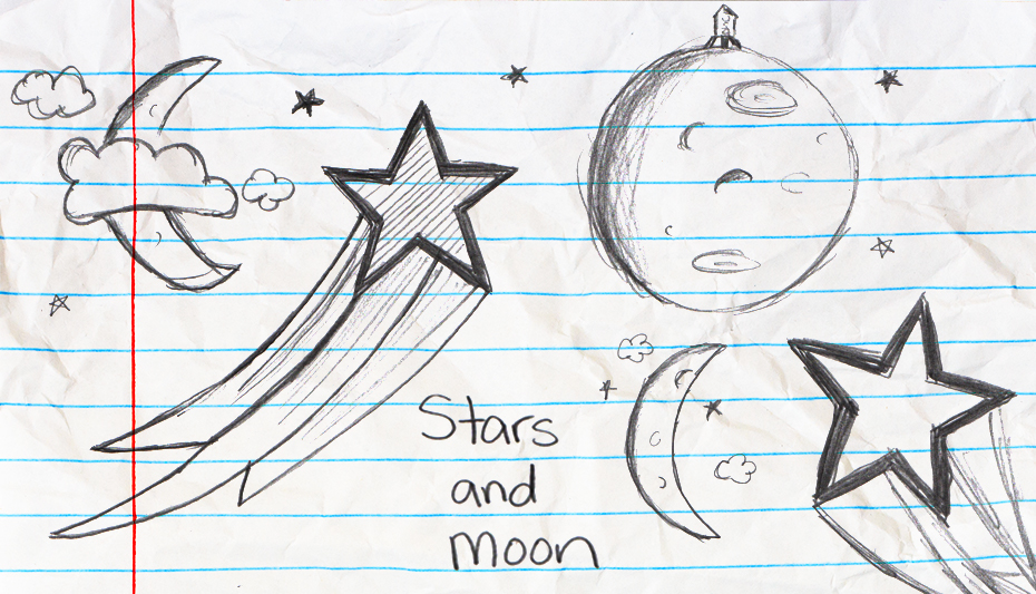Stars and moon artwork