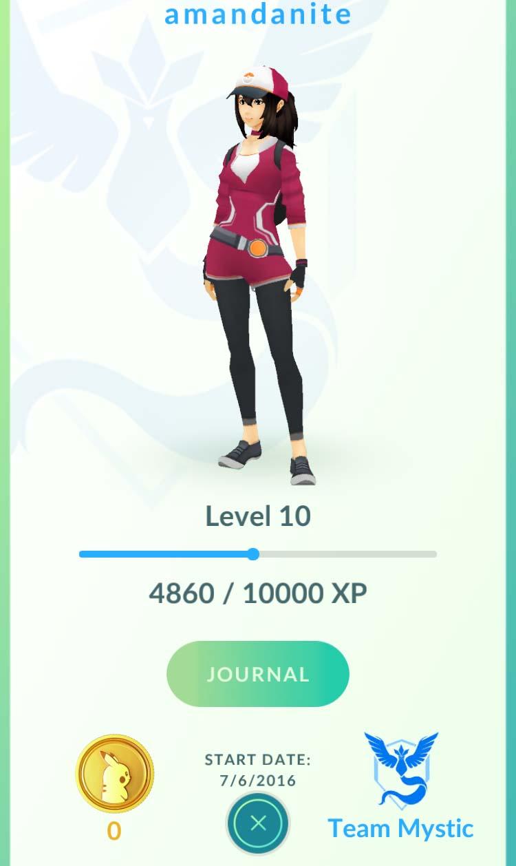 Amandanite Pokémon Go profile