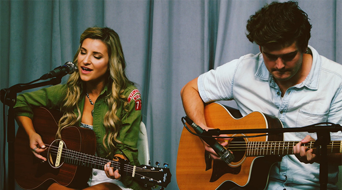 "April Kry performs an acoustic version of single ""Fireflies"" at Sweety High studios"