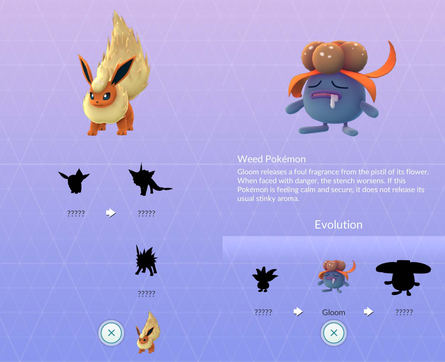 Catching Pokémon evolved forms before the first forms