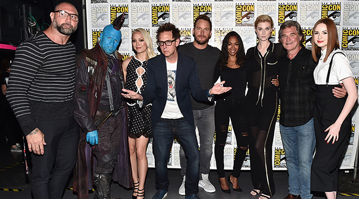 The cast of Guardians of the Galaxy Vol. 2 at Comic-Con 2016