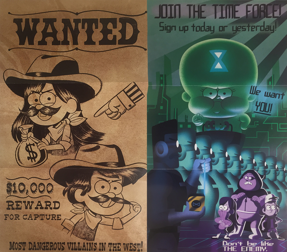 Dipper and Mabel and the Curse of the Time Pirates' Treasure posters