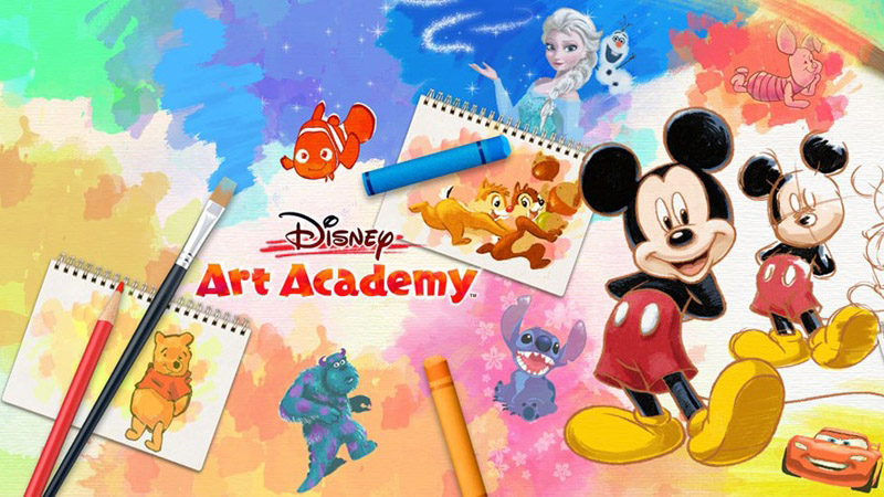 Main screen of Disney Art Academy for Nintendo 3DS