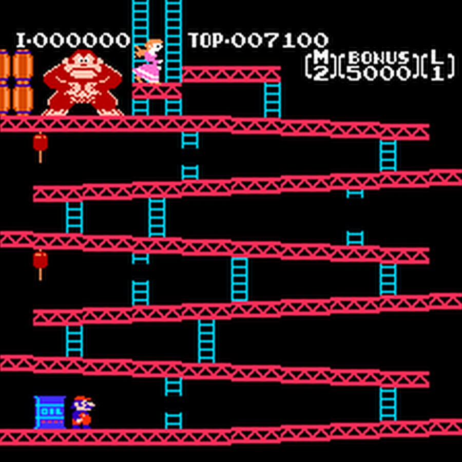 Donkey Kong: Mario rescues Pauline