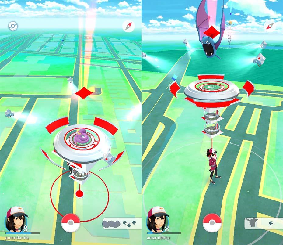 Pokémon Go Ekans and Golbat owning gyms