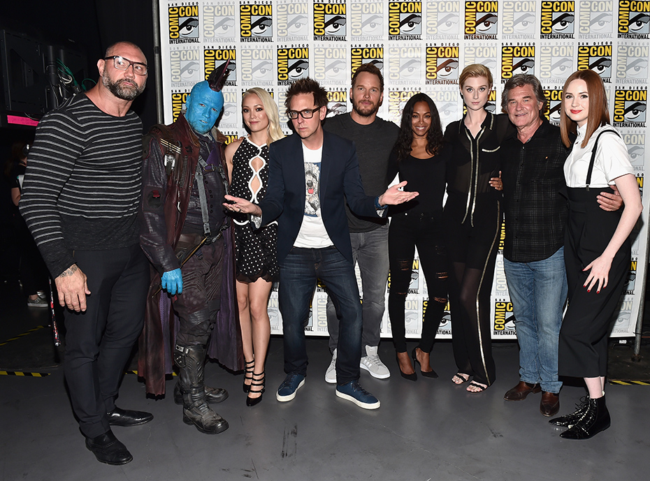 The cast and crew of Guardians of the Galaxy Vol. 2 at Comic-Con 2016