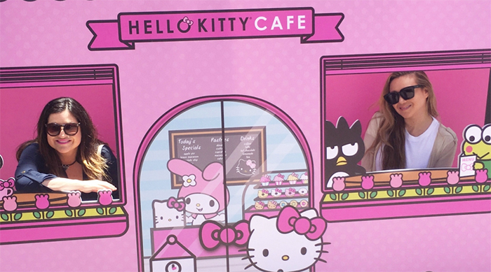 Hello Kitty Cafe photo opportunity at popup at Irvine Spectrum