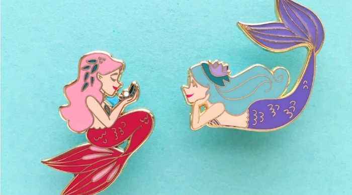 Mermaid lapel pins