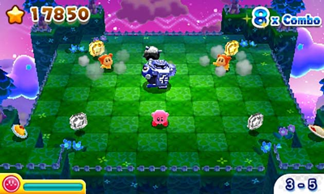 Kirby 3D Rumble gameplay screenshot