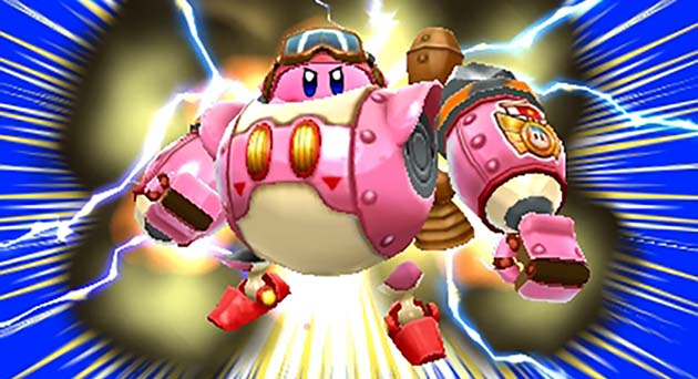 Kirby's Robobot Armot in Planet Robobot