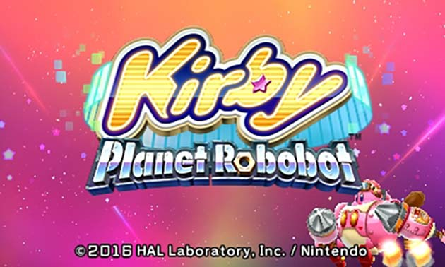 Kirby Planet Robobot Title Screen