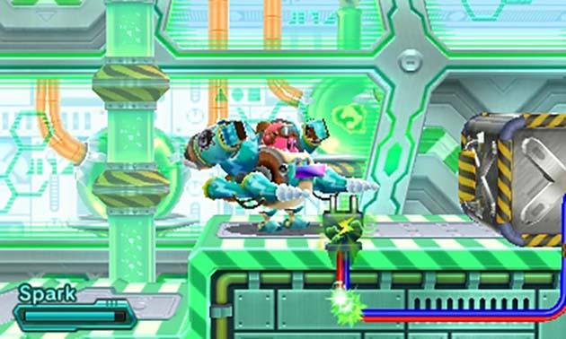 Kirby Robobot Armor with Spark Ability