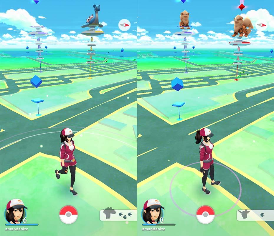 Pokémon Go Lapras and Arcanines