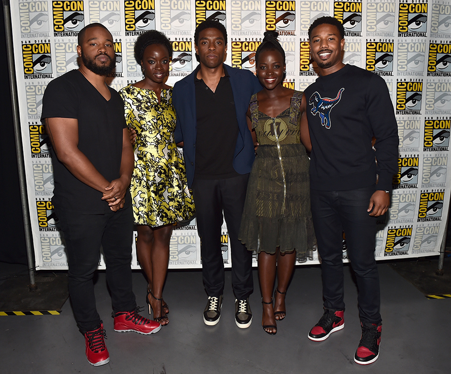 The cast of Marvel's Black Panther at Comic-Con 2016