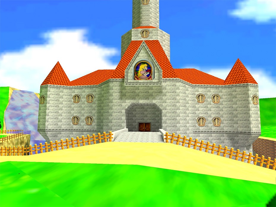 Peach's valuable castle in Super Mario 64