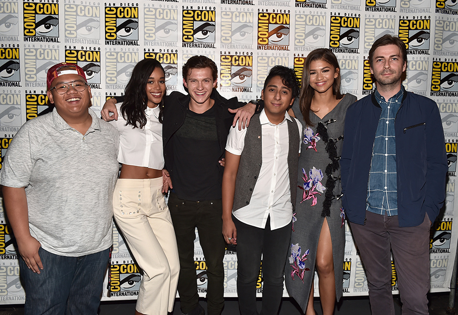 The cast of Spider-Man homecoming at Comic-Con 2016