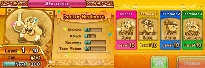 Team Kirby Clash screenshot with Doctor Healmore