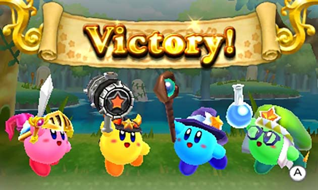 A four-member team victory in Kirby Clash