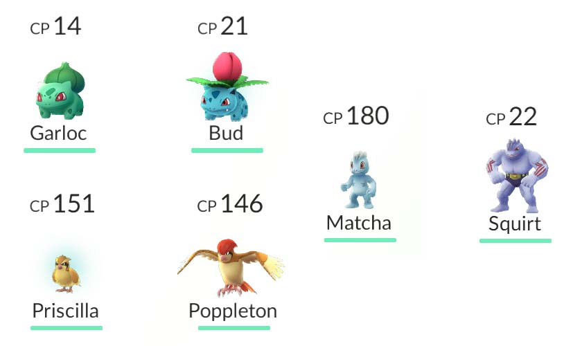 Pokémon Go first forms stronger than the second forms