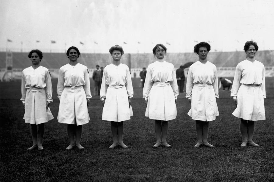 Danish Women's Gymnastic Team 1908 Olympics
