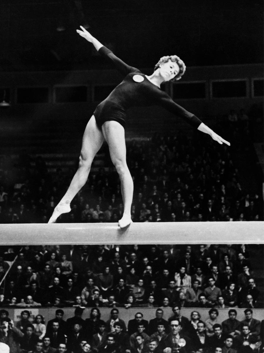 Larissa Latynina 1956 Gymnast at Olympics from Soviet Union