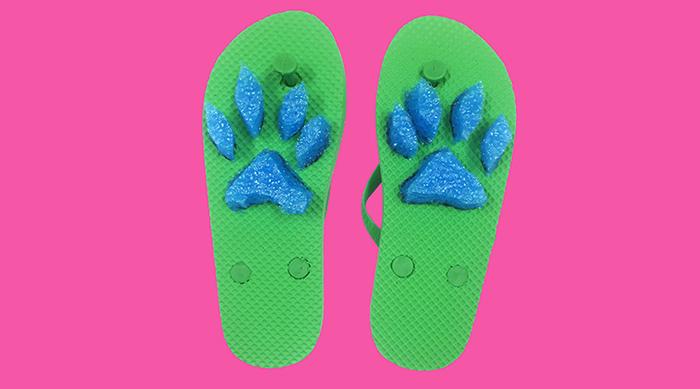 Cute DIY animal print flip flops