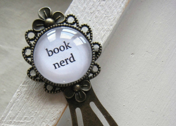 Classy book nerd bookmark from Etsy