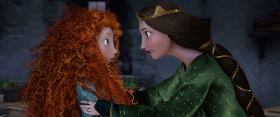 Merida and her mother in Brave