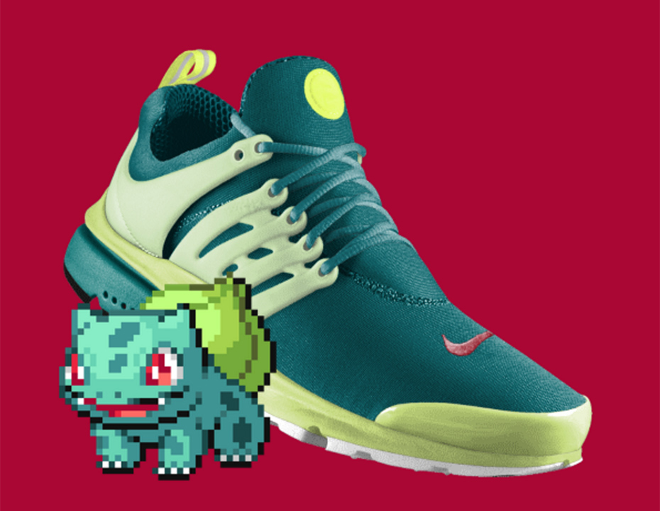 Bulbasaur PokeID Pokémon Nike shoes