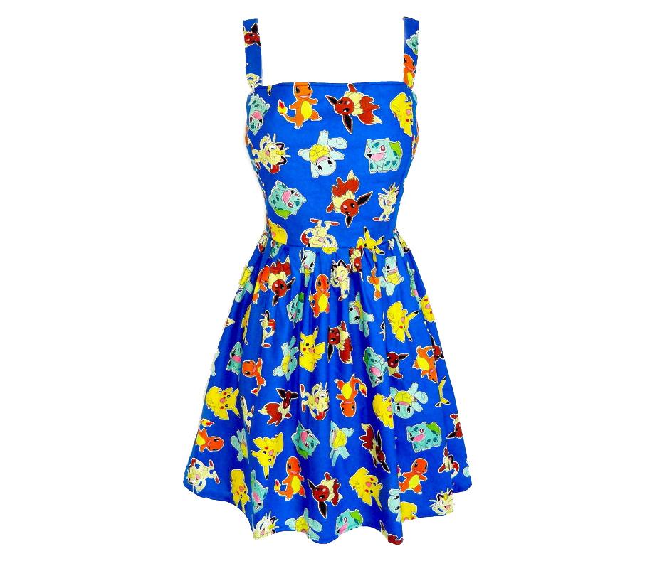 Cute blue Pokémon print dress