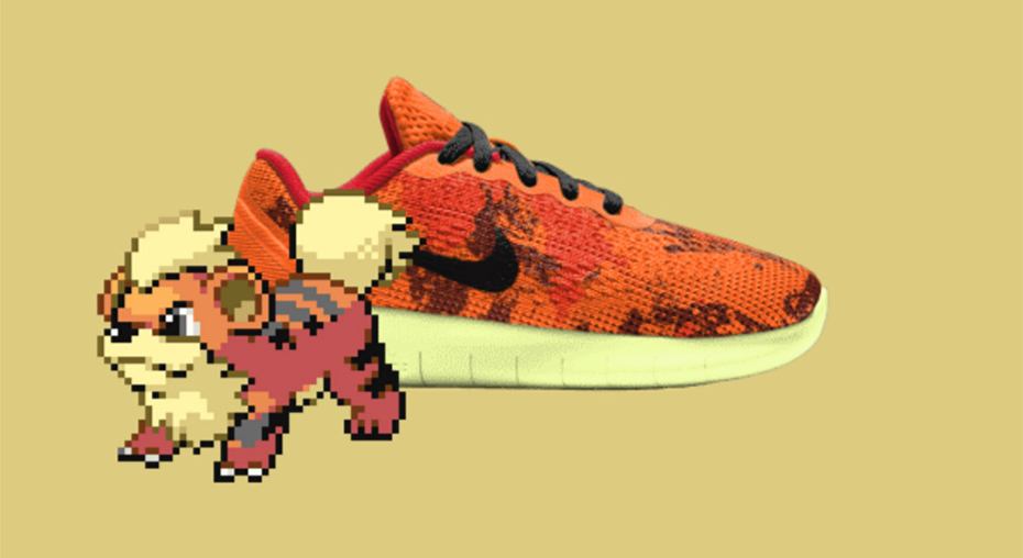 Growlithe PokeID Pokémon Nike shoes