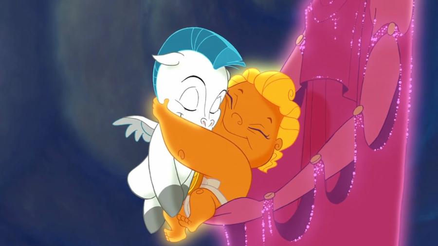 Hercules and Pegasus as babies