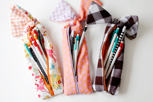 knotted zipper pencil pouch