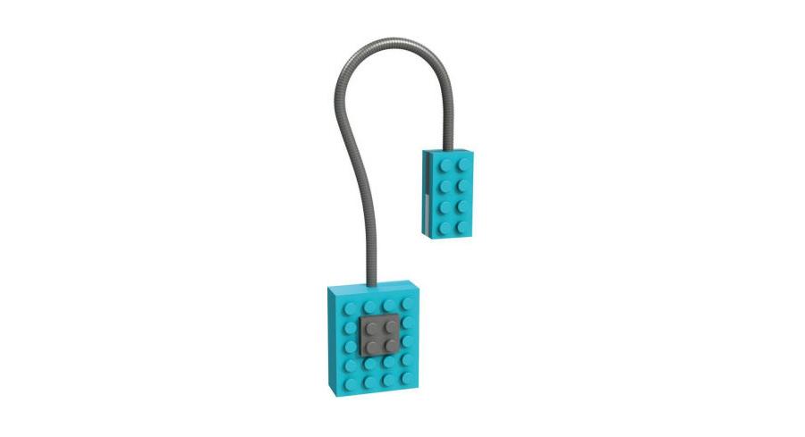 Blue lego-inspired light bookmark
