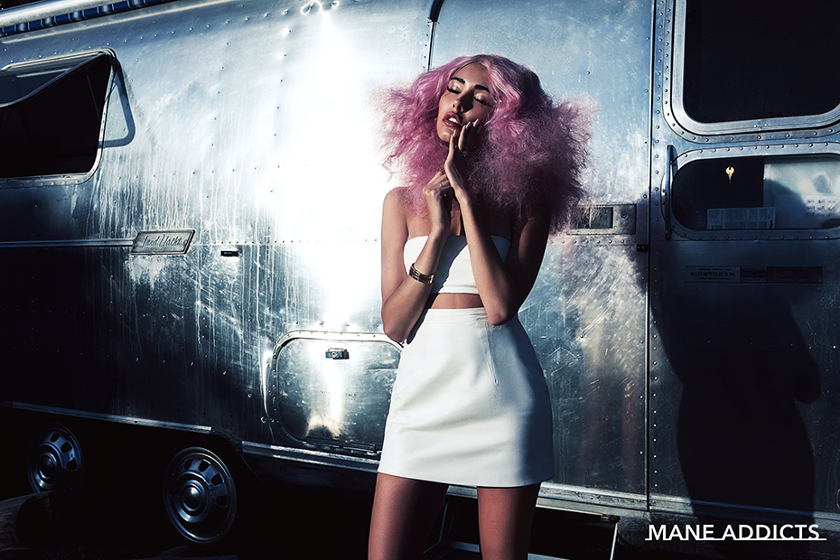 Madison Beer pink cotton candy hair by Chris Appleton