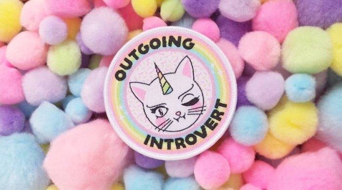 Outgoing Introvert cat patch