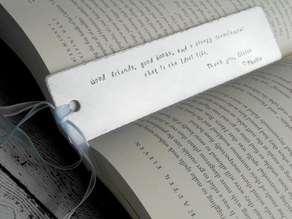 Personalized bookmark from Etsy