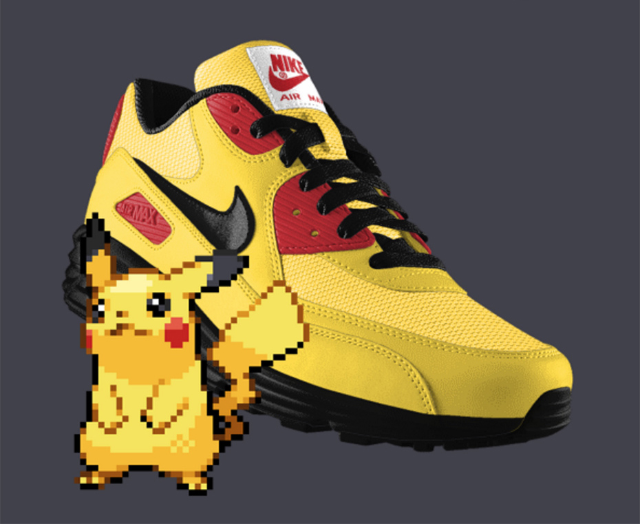 Pikachu PokeID Pokémon Nike shoes